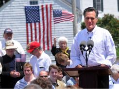 Mitt Romney announces his candidacy for the Republican presidential nomination Thursday at Bittersweet Farm in Stratham, N.H.