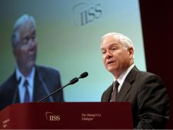 Defense Secretary Robert Gates delivers an address Saturday at the IISS Shangri-la Security Summit in Singapore.