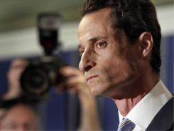 "Rep. Anthony Weiner, D-N.Y., talks to reporters Monday. ""The picture was of me and I sent it,"" he said."