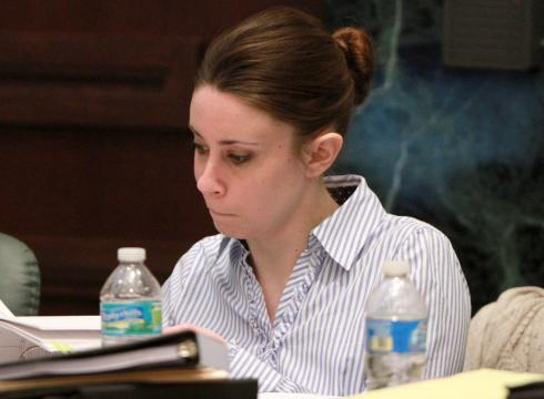 casey anthony trial. Casey Anthony looks over