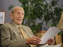Harold Camping speaks during a taping of his show Open Forum in Oakland, Calif., on May 23.