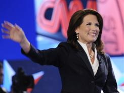Minnesota Rep. Michele Bachmann attends the first major 2012 Republican presidential debate in Manchester, N.H., on Monday.