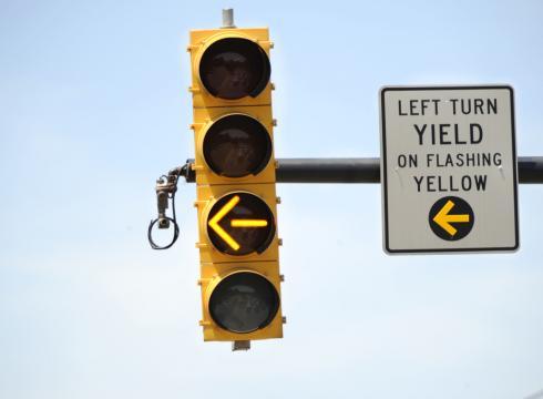 Yellow flashing light