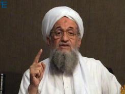 Ayman al-Zawahri gives a eulogy for Osama bin Laden in a video released on jihadist forums on June 8, 2011.