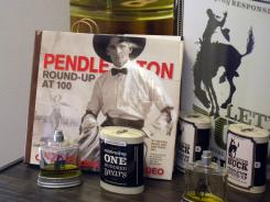 Let 'er Buck cologne, is seen at the Pendleton Round-Up Association's  Hall of Fame museum in Pendleton, Ore.