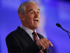 Rep. Ron Paul, R-Texas, speaks at the Republican Leadership Conference in New Orleans on Friday.