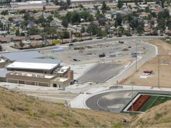 Newly constructed Hillcrest High School in Riverside, Calif., won't be easing the crowding at La Sierra High as the new school sits empty for the coming school year.