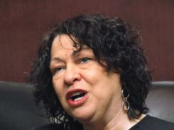 Supreme Court Justice Sonia Sotomayor delivers an address at the University of Chicago Law School.