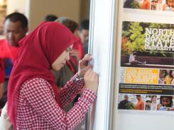 More than 50 U.S. colleges and universities participated in a higher education fair in Jakarta, Indonesia, to recruit students to U.S. colleges.