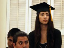 Supporter: Maria Luna, a graduate in Sacramento, supports helping students here illegally