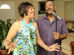 "James Sims and his wife, Ruby, perform as ""Motown & Mo"" in theaters in Palm Coast, Fla."