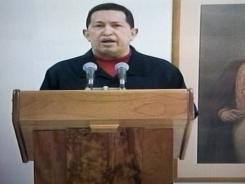 In this frame grab taken from Venezolana de Television, VTV, Venezuela's President Hugo Chavez delivers a televised speech aired from Cuba on Thursday.