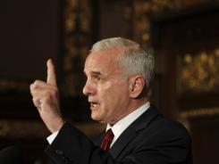 Gov. Mark Dayton speaks during a news conference hours before the July 1 deadline to pass a budget at the Minnesota State Capitol.