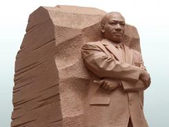The 30-foot statue of civil rights leader is taller than other Mall icons.