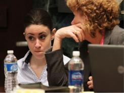 Casey Anthony with her attorney Dorothy Clay Sims on the last day of arguments in Anthony's murder trial.