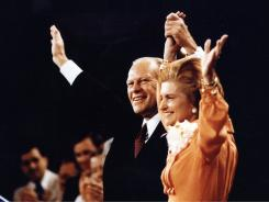 President Gerald R. Ford and his wife, Betty, at the Republican National Convention in 1976.