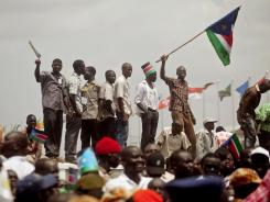 Southern Sudanese celebrate their first independence day in the capital city of Juba.