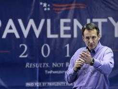 Republican presidential candidate Tim Pawlenty speaks in Urbandale, Iowa, on Thursday.