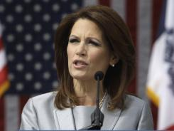 Rep. Bachmann speaks to supporters during her formal announcement to seek the 2012 Republican presidential nomination, Monday, June 27.