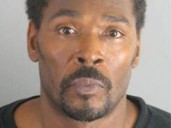 Rodney King,  in a booking handout photo provided by the Riverside County Sheriff's Department.