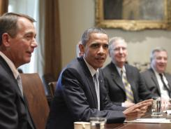 President Obama meets with congressional leaders about the debt ceiling Wednesday.