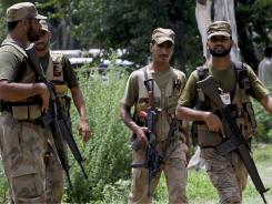 Pakistan army troops  secured an area Monday after an explosion in an Army ammunition depot in Sihala.