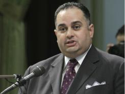Assembly Speaker John Perez, D-Los Angeles, the first openly gay Speaker of the California State Assembly, urges lawmakers to approve a measure requiring public schools to teach the historical contributions of gay Americans.