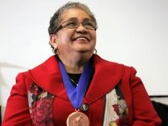 Beverly Hall, named the 2009 Superintendent of the Year by the American Association of School Administrators, will keep her award for now, group leaders said.