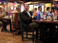 David Saucedo joins a June networking breakfast for Mexican businessmen.