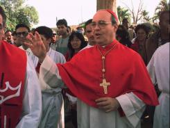 Archbishop of Havana: Cardinal Jaime Ortega arrives at a church in 1997.