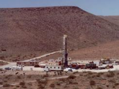This June 10, 1992, file photo shows the Yucca Mountain Nuclear Waste Dump in Mercury, Nev.