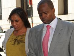 Nafissatou Diallo, left, and her attorney arrive for a meeting with Manhattan prosecutors investigating the sex assault case against Dominique Strauss-Kahn.