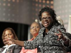 Barbara Arnwine, with Lawyers Committee for Civil Rights Under Law, speaks at the NAACP's 102nd annual national convention in Los Angeles on Wednesday.