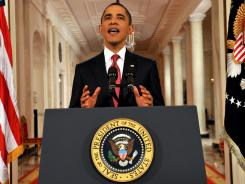 President Obama addresses the nation Monday, urging progress on the debt impasse as the deadline approaches.
