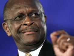Republican presidential candidate Herman Cain speaks at the Republican Leadership Conference in New Orleans on June 17.