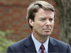 Democrat John Edwards at a campaign stop in March 2007. It's not unusual for campaigns to later owe money to the U.S. Treasury, but the $2 million the Edwards campaign owes is high, experts say.