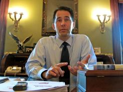 """Jobs and fiscal responsibility"" biggest issues:  Gov. Scott Walker, R-Wis., discusses recall elections Wednesday."