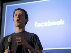 Mark Zuckerberg, CEO of Facebook, gives a speech to show the latest technology powering Facebook at their headquarters in Palo Alto, Calif., earlier this year.