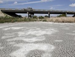 The dried up Tierra Blanca Creek in Canyon, Texas, on Aug. 14. Texans have endured nearly a year of drought.