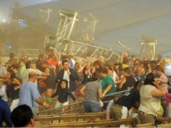 High winds blew the stage over at the Indiana State Fair on Saturday, killing several people in the crowd.