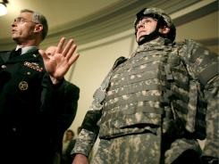 A 2006 photo illustrates body armor adopted by the U.S. Army.