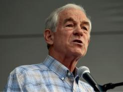 Republican presidential candidate Rep. Ron Paul addresses his supporters Aug. 13 in Ames, Iowa.