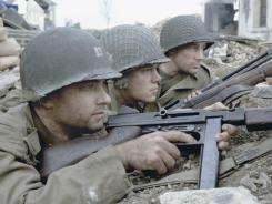 'Saving Private Ryan,' starring Tom Hanks, left, Matt Damon, and Edward Burns, is an R-rated film educators use to teach aspects of World War II.