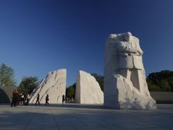 Monday's debut of the Martin Luther King Jr. Memorial on the National Mall kicks off a week of celebrations and fundraisers and leads to the Sunday dedication, where President Obama will speak.