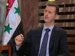 President Bashar Assad said on Sunday that his security forces are making gains against a 5-month-old uprising.