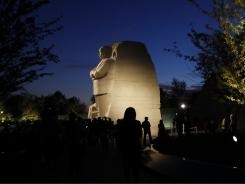 The Martin Luther King Jr. Memorial opened to the public on Monday.