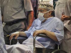 In this Sept. 9, 2009, file photo, Abdel Baset al-Megrahi is seen at Tripoli Medical Center.