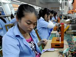 Production:  Last year, 2.7% of U.S. consumer spending went to products made in China.