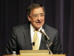 Defense Secretary Leon Panetta speaks at the Naval Post Graduate School in Monterey, Calif., on Aug. 23.