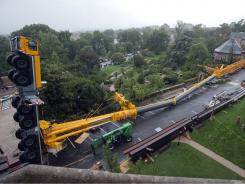 A 500-ton crane that was repairing damage caused by the Aug. 23 earthquake collapsed on Wednesday at the Washington National Cathedral in D.C.